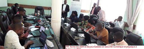 PPI forme les DDH et journalistes de Bukavu en sécurité numérique et phyique