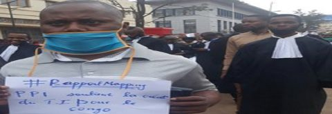 PPI à la marche de soutien à la créaction d'un Tribunal Pénal International pour le Congo