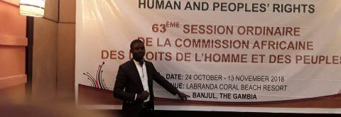 PPI REPRSENTEE AU 63ème SOMMET DE LA COUR AFRICAINE DES DROITS DE L'HOMME ET DES PEUPLES A BANJUL